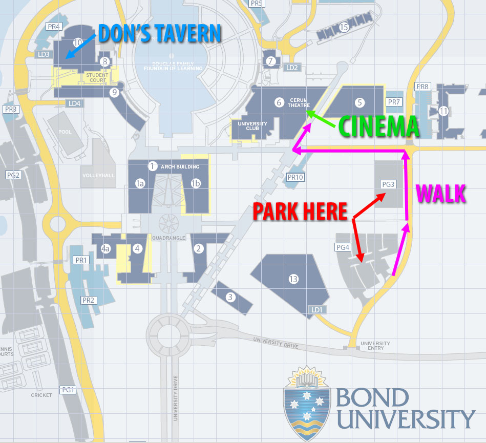 Bond University Map David Gould Studios